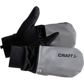 Craft Hybrid Weather Gloves silver/black